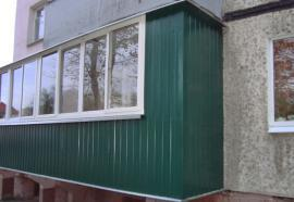 Внешняя обшивка балконов в гомеле okno-ok.by.